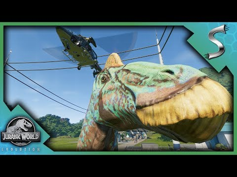 DINOS BROKE OUT U0026 ATE GUESTS! TRANQUILIZING U0026 MOVING DINOS!   Jurassic  World Evolution