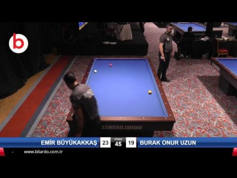 EMİR BÜYÜKAKKAŞ & BURAK ONUR UZUN Bilardo Maçı - 2019 GENÇLER 1.ETAP-GENÇLER 1.TUR