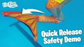 Learn The Mermaid Tail Quick Release Safety Method   Fin Fun Mermaid Tails