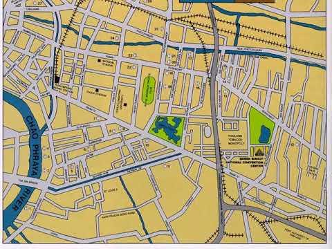 достопримечательности бангкока на карте