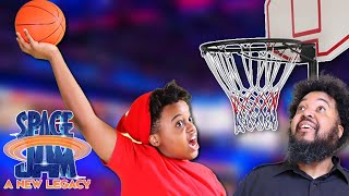 SHILOH DUNKED ON HIS DAD! | Space Jam: A New Legacy | Onyx Family