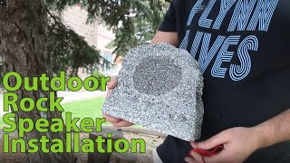 How to install Outdoor Rock Speakers with Burial Speaker Wire