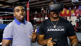 Boxers Try Boxing in Virtual Reality! (among other stuff)