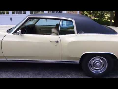 Video of Classic 1972 Monte Carlo Offered by a Private Seller - OBLH