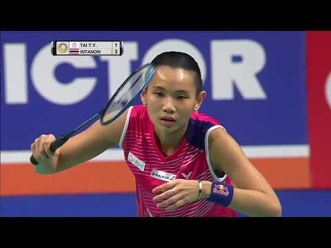 Danisa Denmark Open 2017   Badminton SF M3-WS   Tai Tzu Ying vs Ratchanok Intanon