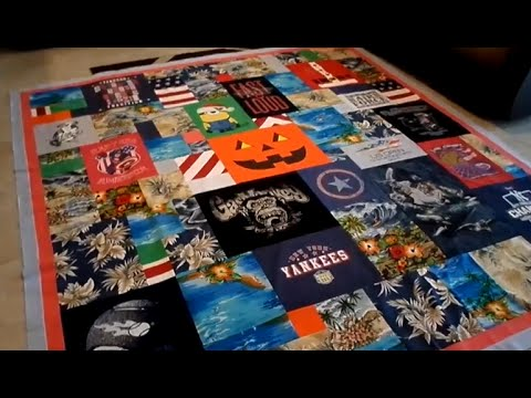 How to Make a Collage Style T-Shirt Quilt