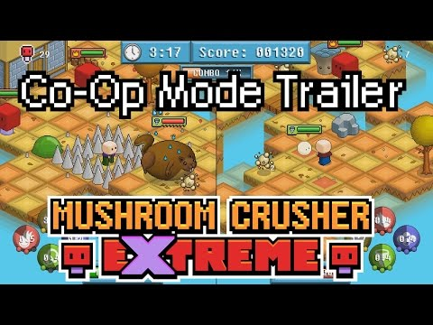 Co-Op Trailer - Mushroom Crusher Extreme [Isometric Arcade-Action for Win, Mac and Linux] thumbnail