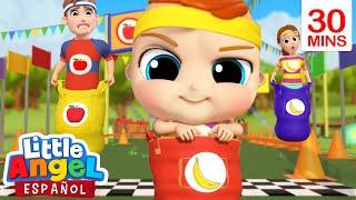 ¿Quién ganará la carrera, Manzanas o bananas?🍎🍌 | Canción Infantil | Little Angel Español