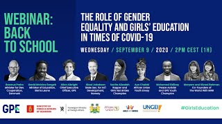 Webinar: The role of gender equality and girls' education in times of COVID-19