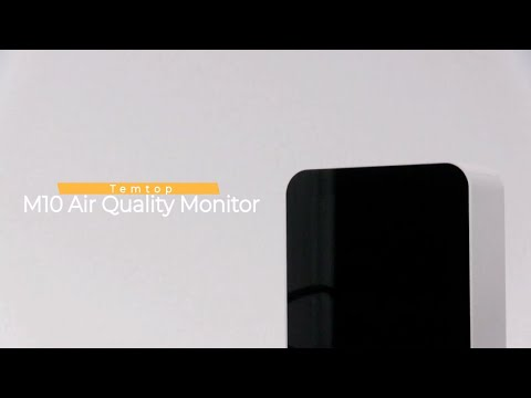 Temtop M10 Rechargeable Air Quality Detector AQI Monitor HCHO TVOC AQI PM2.5 Real Time Monitor