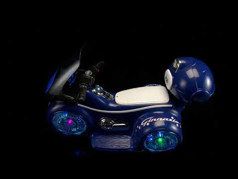 Мотоцикл FD-9803 светящиеся колеса синий