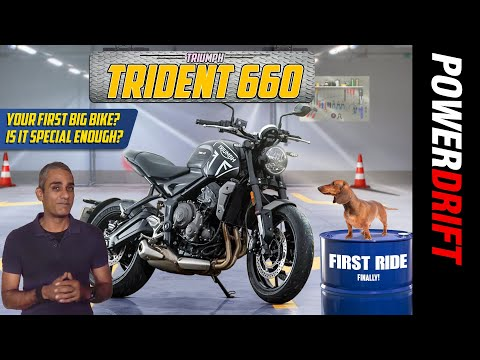 Triumph Trident 660   Your first big bike is here!   PowerDrift