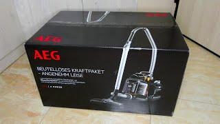 AEG LX7-2-EB-P Cyclonic Vacuum Cleaner 650W Κυκλωνική Ηλεκτρική Σκούπα Με ΚάδοΧωρίς Σακούλα Unboxing
