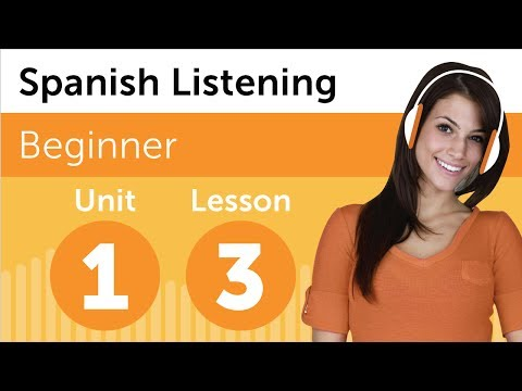 Spanish Listening Exercises