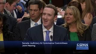 Sen. Durbin asks Mark Zuckerberg what hotel he stayed at last night (C-SPAN)
