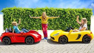 Akim ride-on car shop - Avelina teaches how to be a good sister