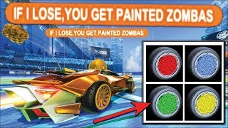 IF I LOSE, YOU GET MY PAINTED ZOMBAS.