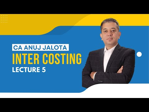 Cost Management Accounting Online Video Lectures - Anuj Sir ...