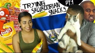 TRYING SALVADORIAN SNACKS...FOR THE FIRST TIME! PT.1