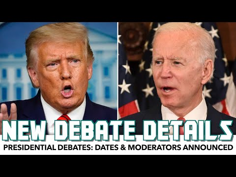 Presidential Debates: Dates & Moderators Announced
