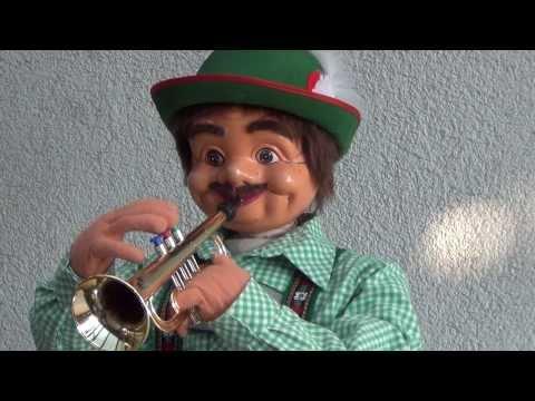 Deko - Werbefiguren Pfeil -/- Trompeter in Lederhose: