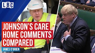 Boris Johnson's care home comments compared with PMQs claims   LBC