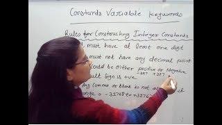 Constant, Variable, Keywords in C Programming Language  Lec-2