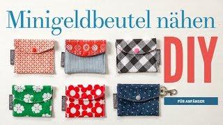 DIY - kleine Geldbeutel nähen - Schnitt + Anleitung