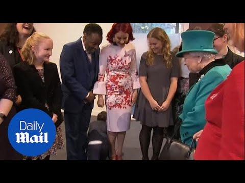 Boy So Overwhelmed By Meeting The Queen He CRAWLS AWAY