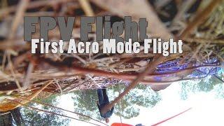 FPV Racing Drone - First Acro Mode Flight | Crash