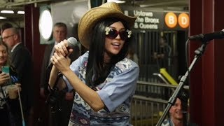 Miley Cyrus Goes Undercover as NYC Subway Singer with Jimmy Fallon