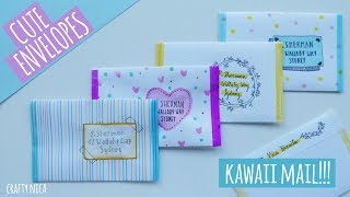 HOW TO MAKE ENVELOPES WITHOUT GLUE ❤ CUTE ENVELOPE ADDRESSING IDEAS❤ gifts for boyfriend