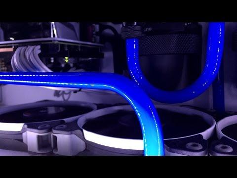 PETG Hard Tube richtig biegen und verarbeiten \ 12/10 mm CF PETG Nanoxia