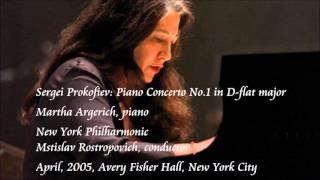 Prokofiev: Piano Concerto No.1 in D-flat major - Argerich / Rostropovich / New York Philharmonic