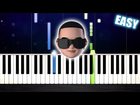 Daddy Yankee & Snow - Con Calma - EASY Piano Tutorial by PlutaX