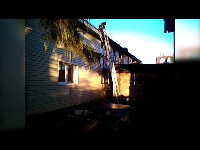В Листвянке горела детская оздоровительная база