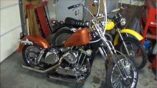 Harley Bobber Chopper and Parts Hoard
