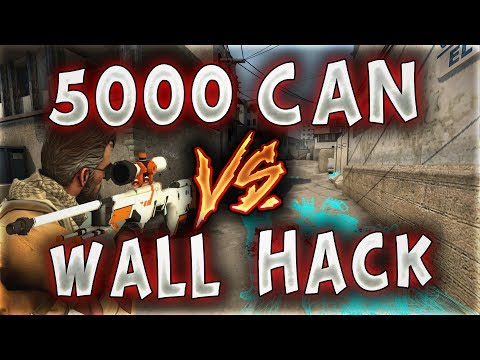 5000 CAN VS WALL HACK MERTCAN BENİ DELİ ETTİ !! (CS:GO)