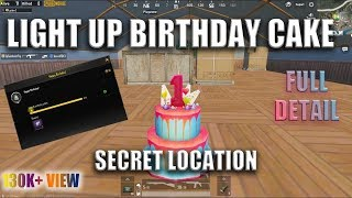 PUBG BIRTHDAY CAKE L SECRET LOCATION   How To LIGHT Up Birthday CAKE !!!