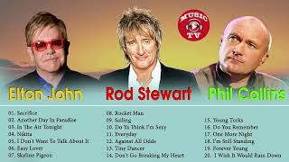 Phil Collins,,Elton John,  Rod Stewart Greatest Hits Playlist 2018