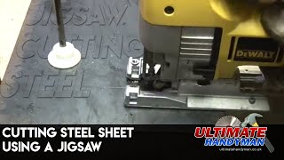 Cutting steel sheet using a jigsaw