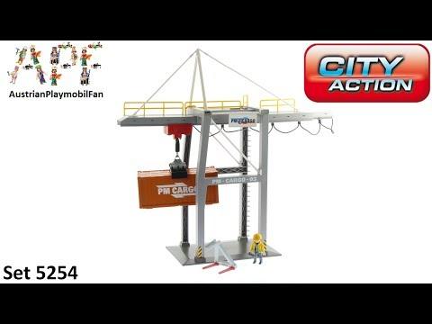 Vidéo PLAYMOBIL City Action 5254 : Portique électrique à conteneurs