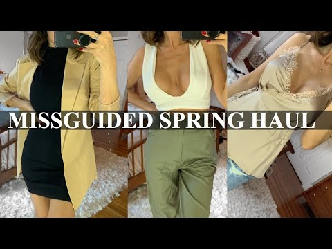 MISSGUIDED SPRING TRY ON HAUL