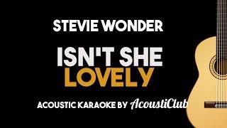 Isn't She Lovely (Stevie Wonder) Acoustic Guitar Karaoke with Lyrics
