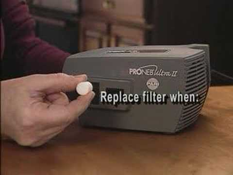 PARI Proneb Ultra II (changing the air filter)
