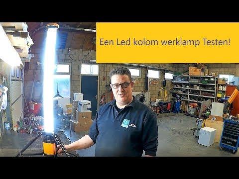 Een led kolom werklamp testen!