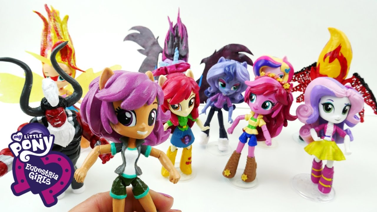 CUSTOM My Little Pony Equestria Girls Mini Dolls Review | Evies Toy House