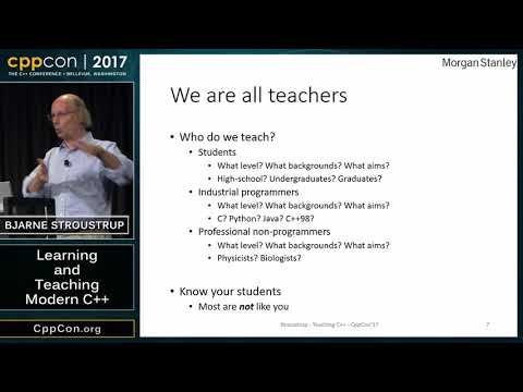 "CppCon 2017: Bjarne Stroustrup ""Learning And Teaching Modern C++"" Mp3"