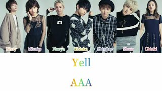 AAA - Yell (Color Coded Lyrics Kan/Rom/Eng)