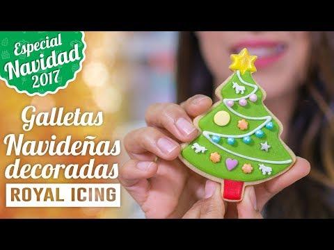 GALLETAS NAVIDEÑAS DECORADAS CON ROYAL ICING O GLASA REAL | ESPECIAL NAVIDAD | Quiero Cupcakes!